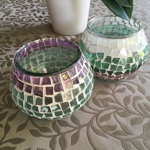Other - 💗3/$30!💕 Set of 2 beautiful glass candle holders